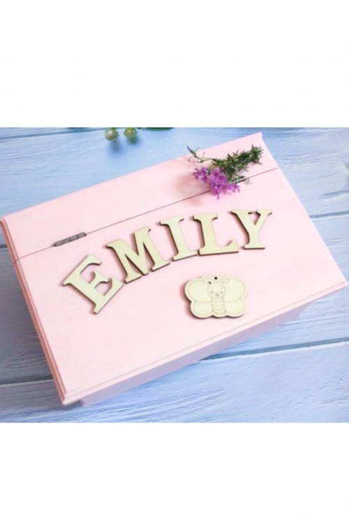 Rózsaszín kézműves ládikó - 2 ajándékkal
