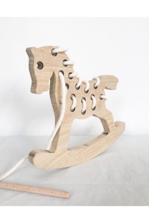 Fa fűzős játék (hintaló)