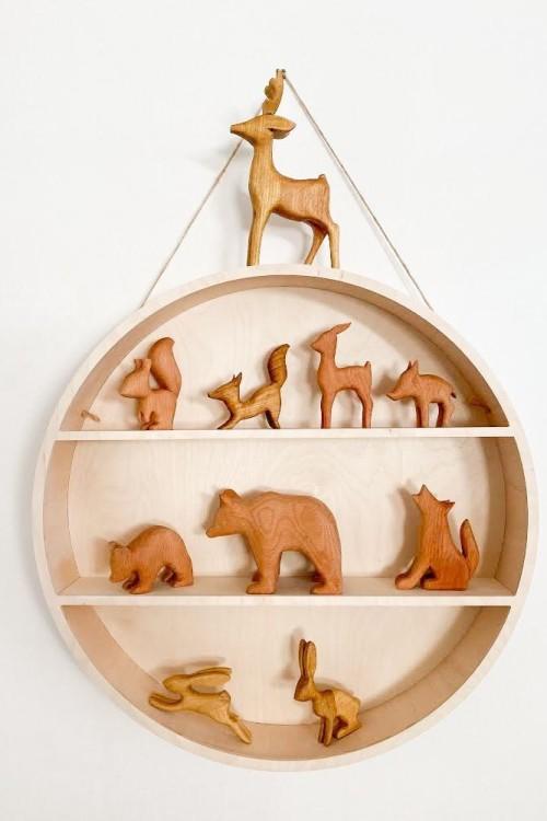 Fa erdei állatok kollekció